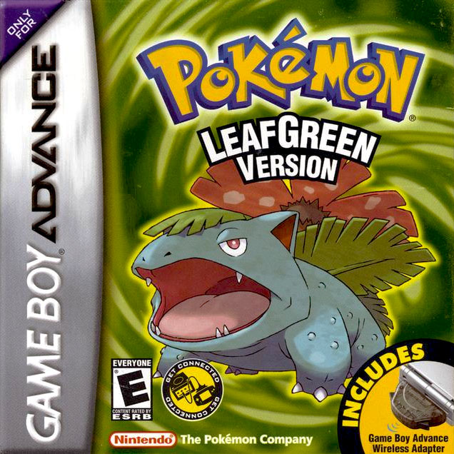 Pokemon leaf green version usa rom for gameboy advance gba apps